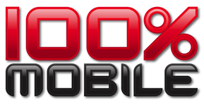100% mobile game logo