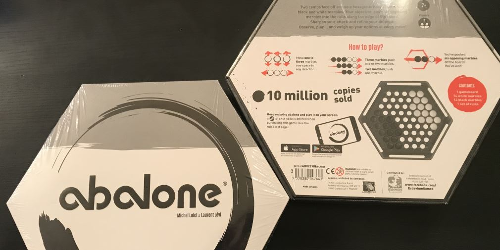 Abalone boxed board games ready for lucky winners
