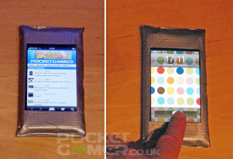 online store f0de6 424d3 How to make your own duct tape iPhone case | Articles | Pocket Gamer