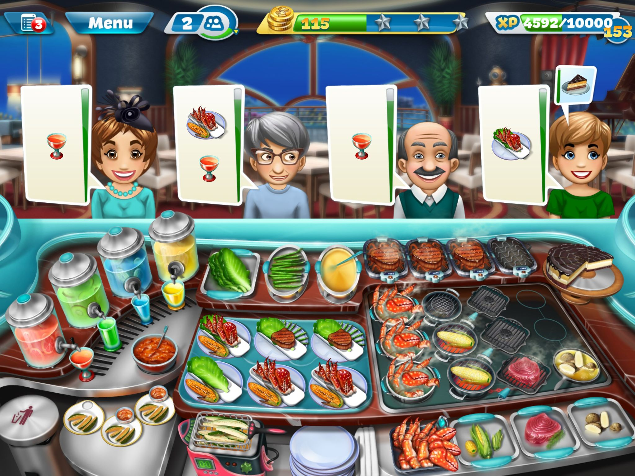 Set Out On An Undersea Adventure In The Latest Cooking Fever Update Articles Pocket Gamer