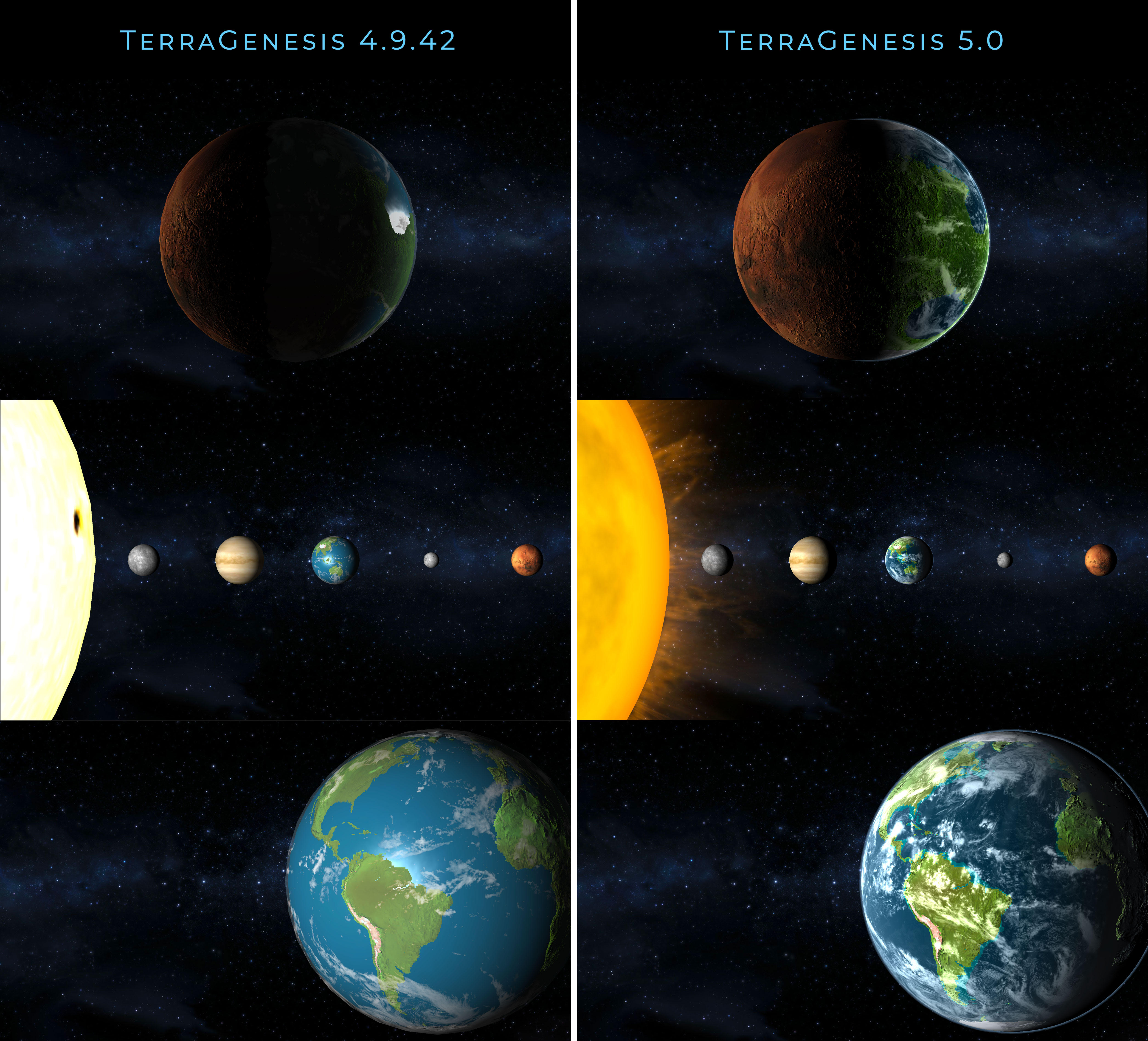 TerraGenesis comparison original vs 5 update