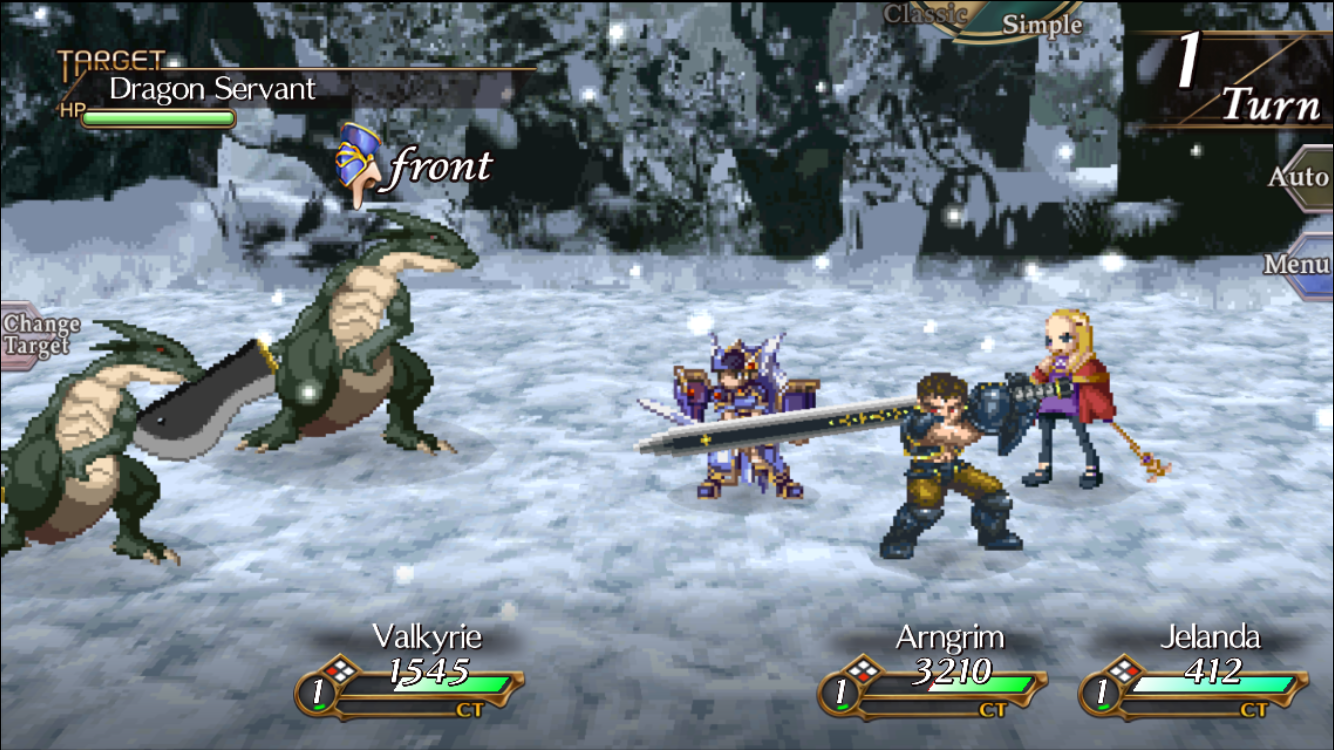 Valkyrie Profile: Lenneth iOS review screenshot - Taking on dragons