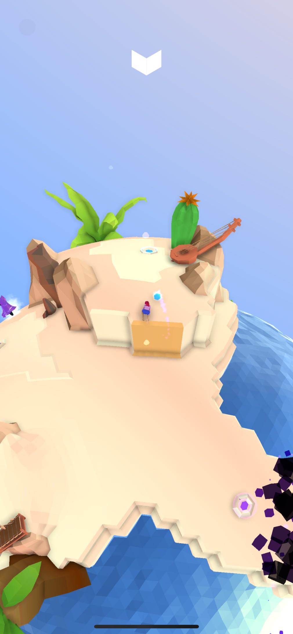 Apollo: A Dream Odyssey iOS screenshot - Solving a puzzle near the beach