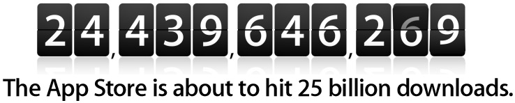 Download the 25 billionth iPhone app and win a $10,000 App Store