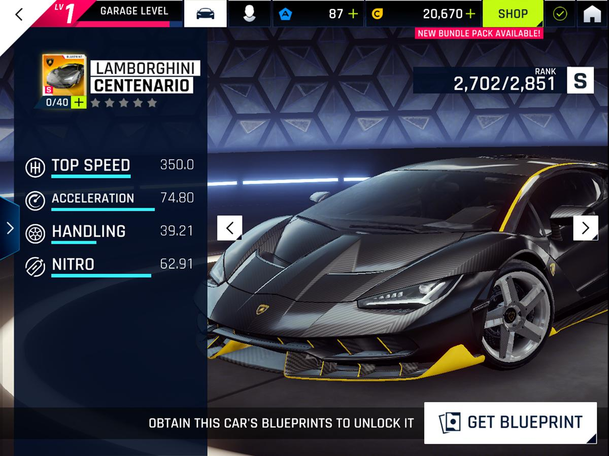 Asphalt 9: Legends cheats and tips - How much are the very best cars