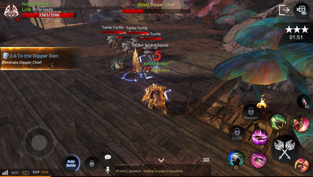 AxE: Alliance vs Empire iOS screenshot - Fighting some fishmen
