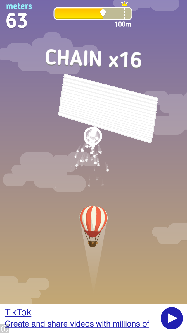 Balloon trip iOS screenshot