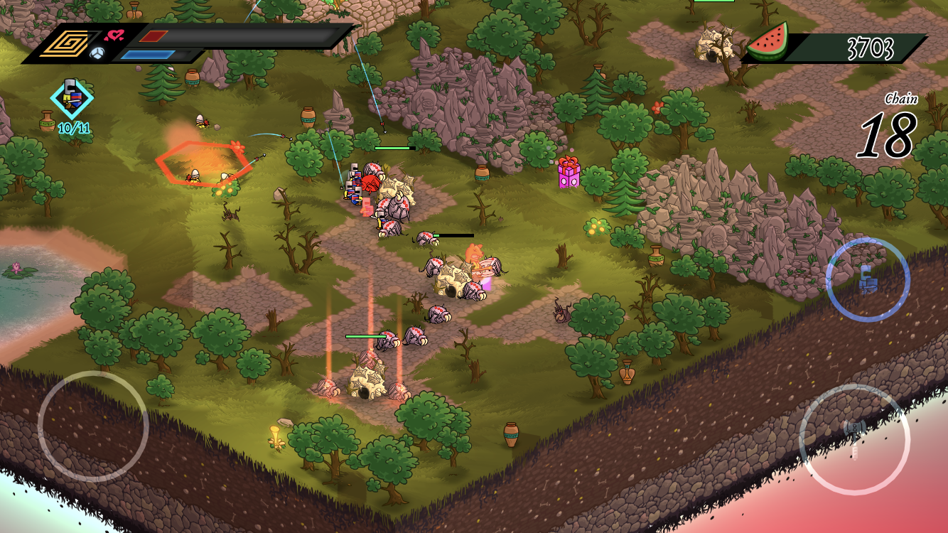 Barbearian iOS review screenshot - Attacking some spawn points