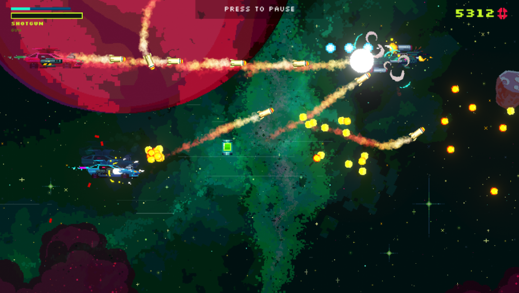 Black Paradox iOS review screenshot - A rocket launcher drone