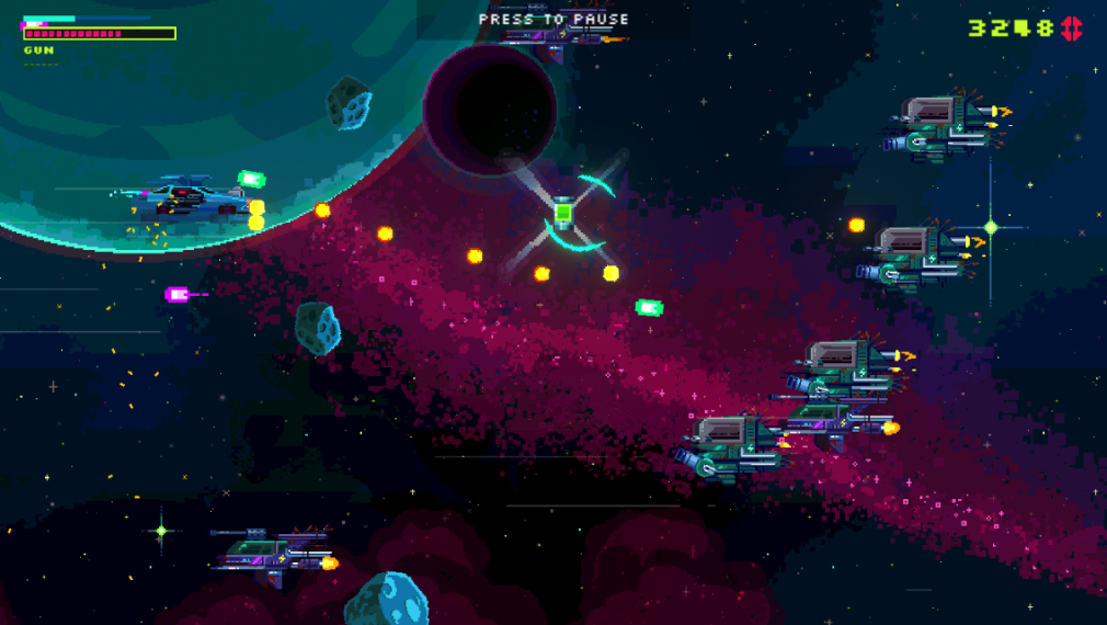 Black Paradox iOS review screenshot - Chasing a health pack