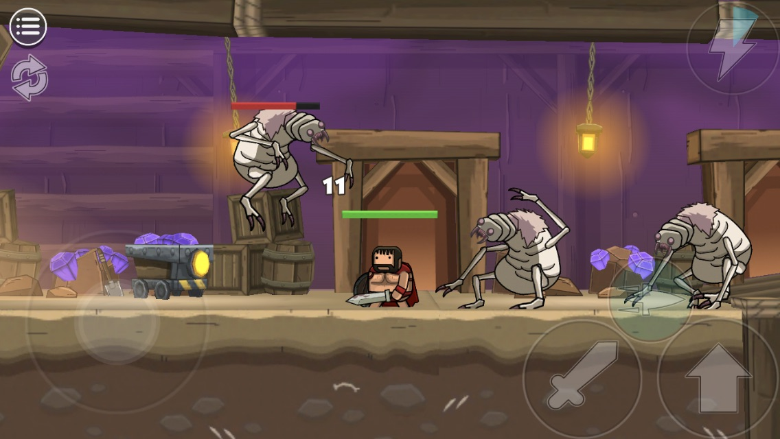 Blackmoor 2 iOS review screenshot - Fighting Weird Flees
