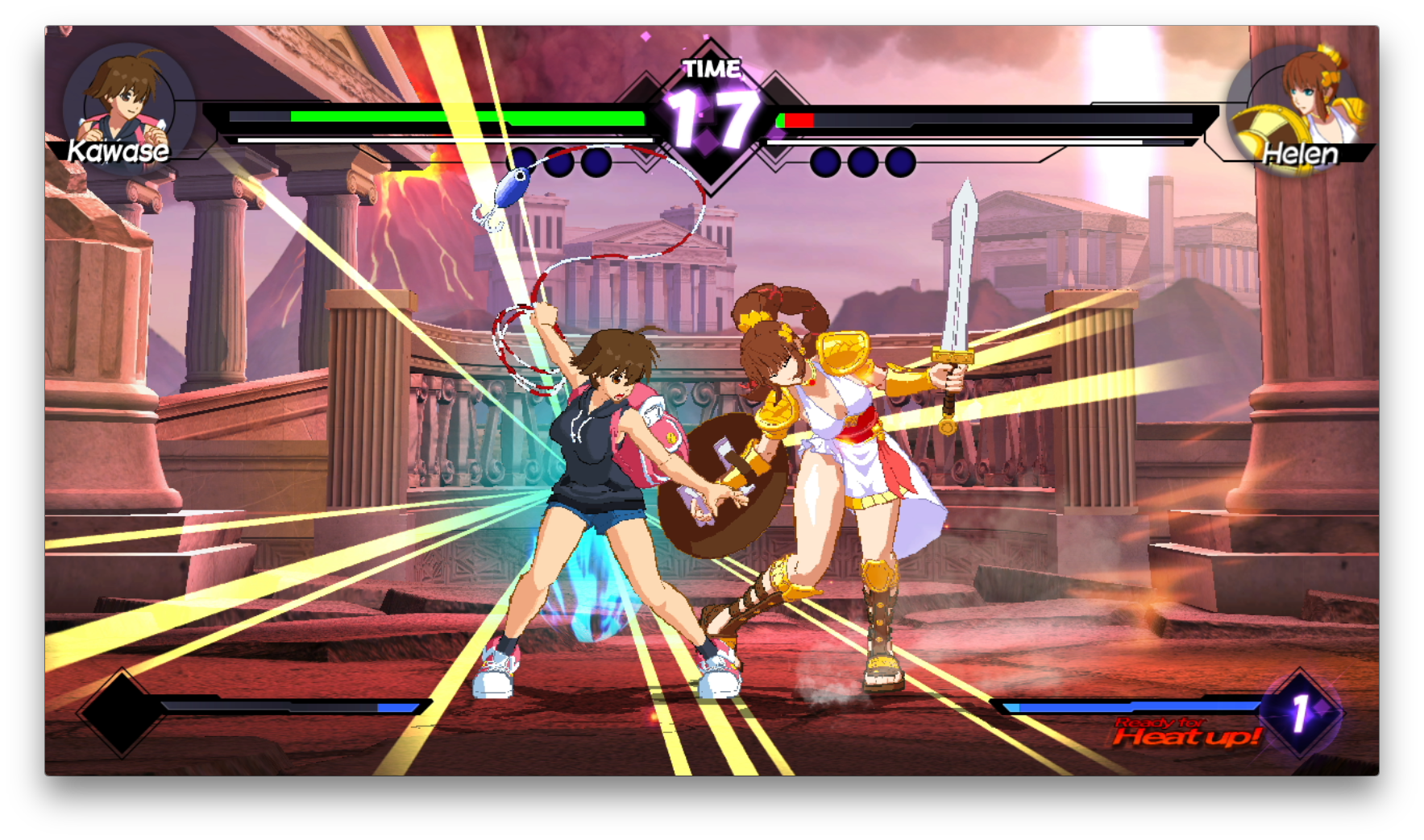 Blade Strangers Switch review screenshot - Pulling off a combo