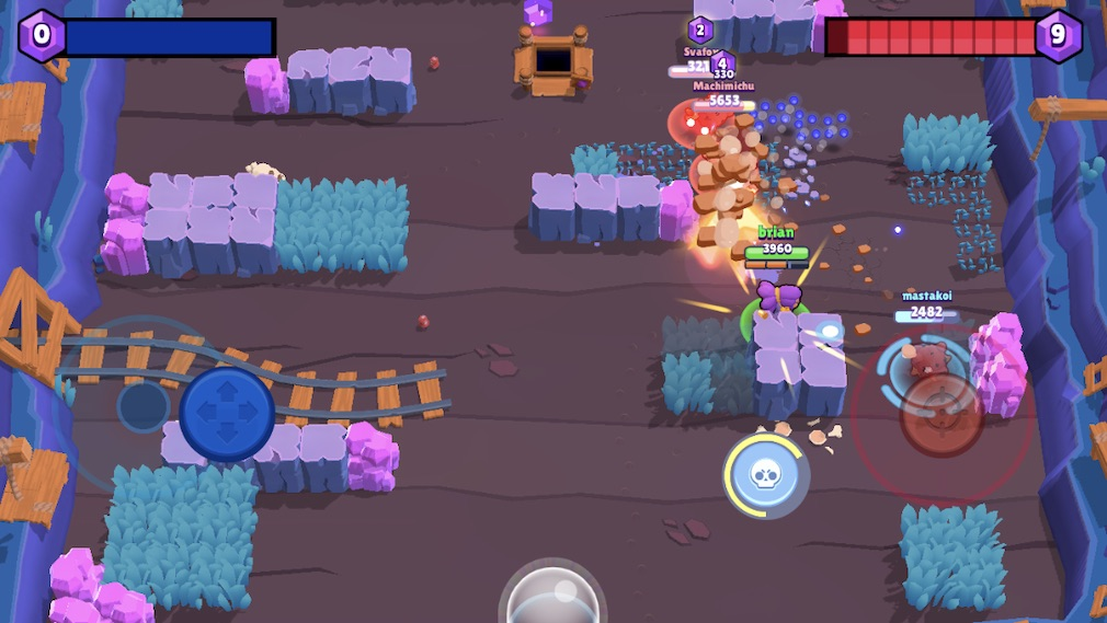 Brawl Stars iOS review screenshot - Fighting it out for gems