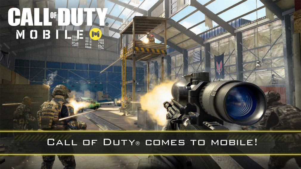 Call of Duty Mobile iOS screenshot - Promo shot with a tower