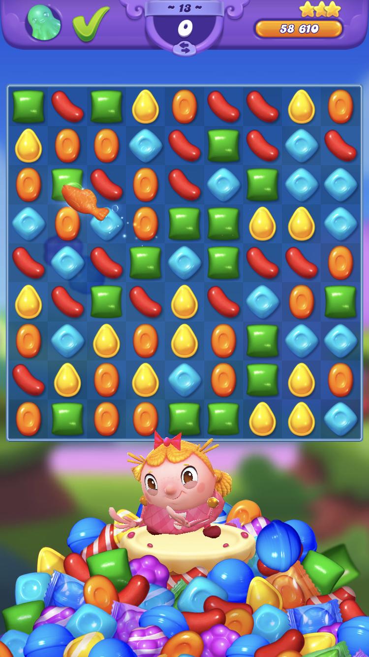 Candy Crush Friends Saga iOS review screenshot - The win screen