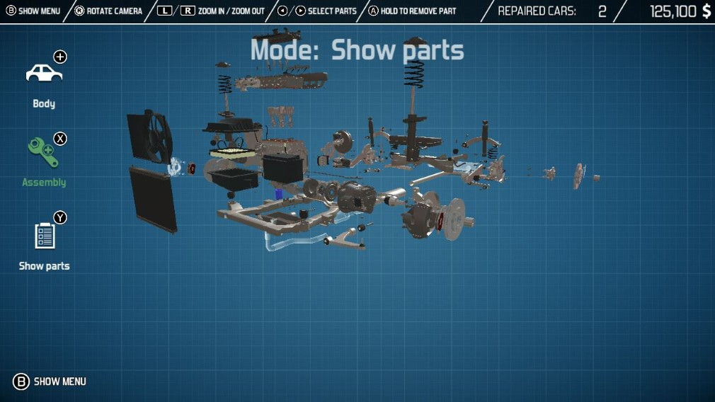 Car Mechanic Simulator Switch Screenshot Car Parts Exploded View