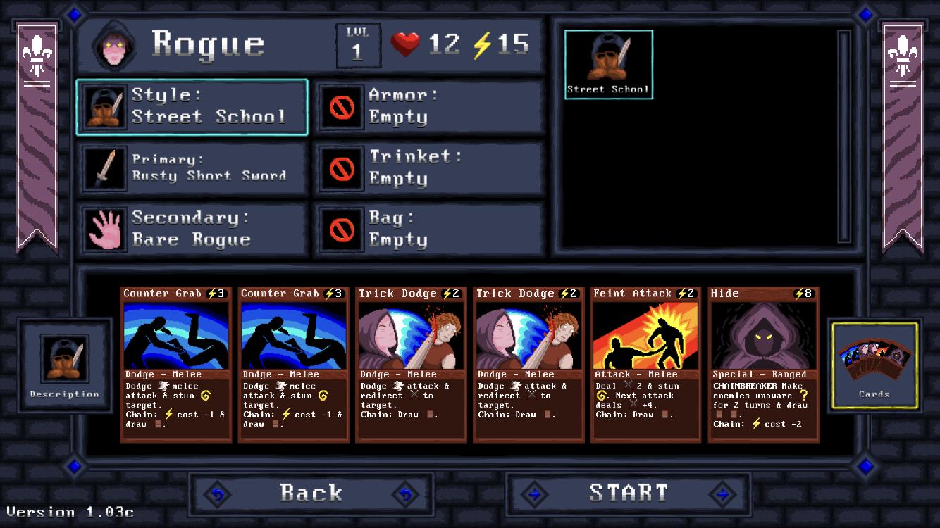 Card Quest guide screenshot - The Rogue deck