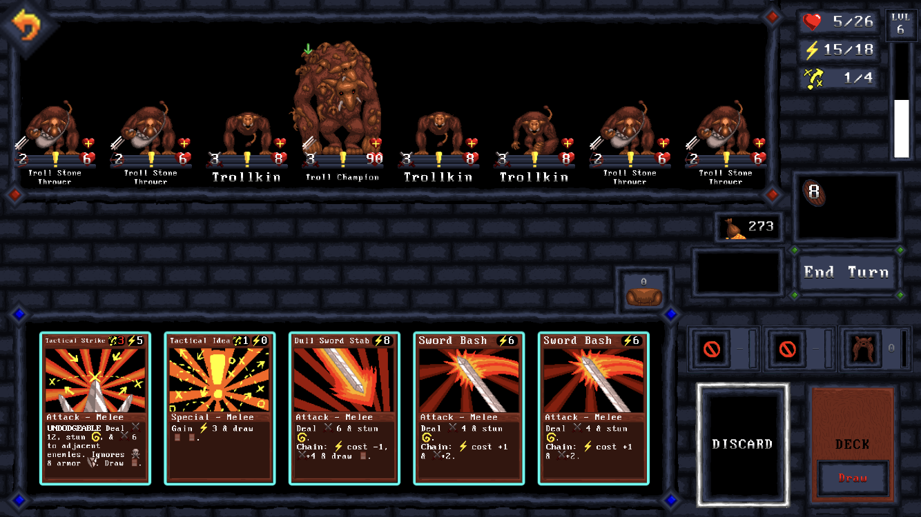 Card Quest iOS review screenshot - A screen of monsters