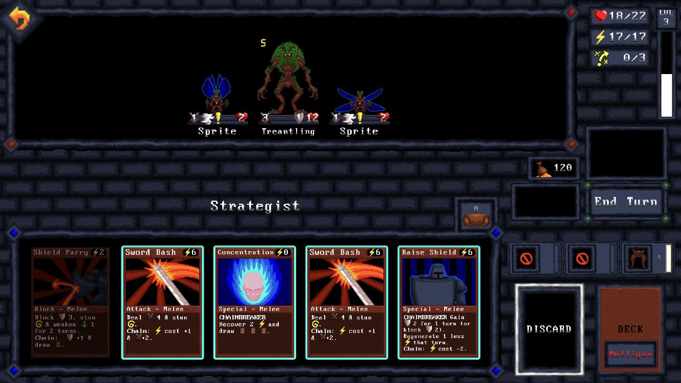 Card Quest iOS review screenshot - Fighting mushrooms