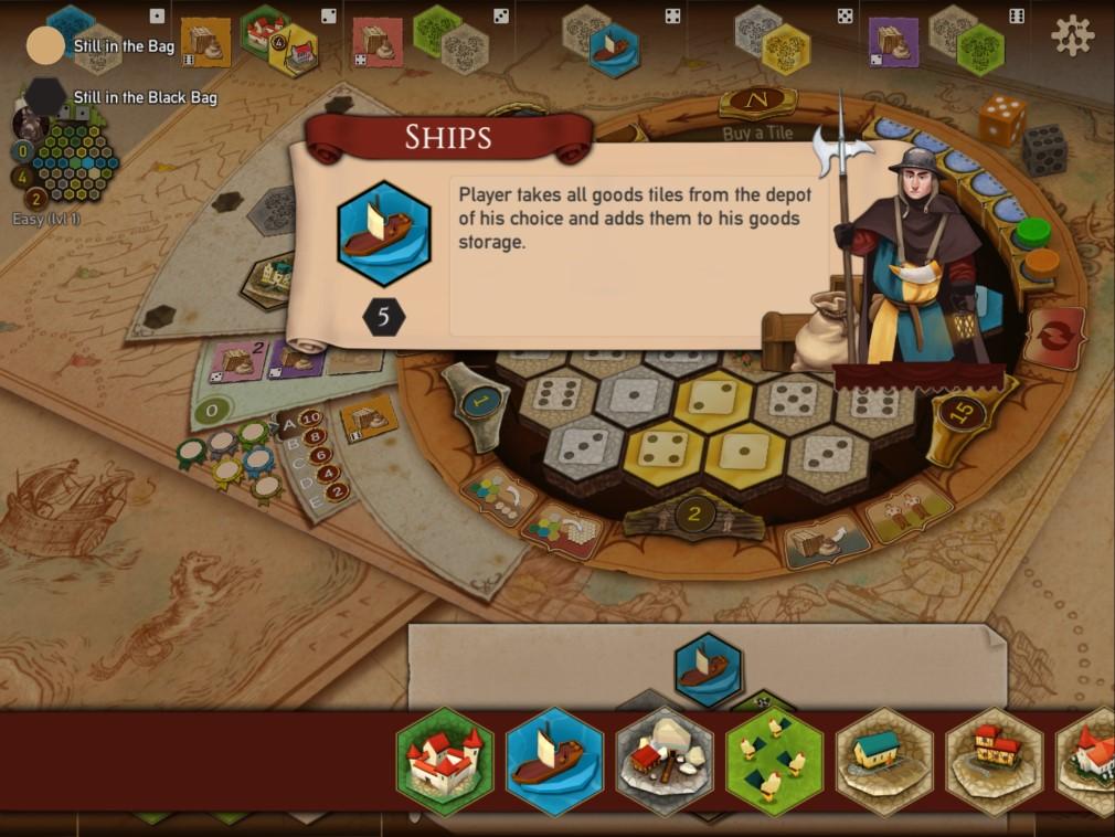 Castles of Burgundy iOS Screenshot Ships Description