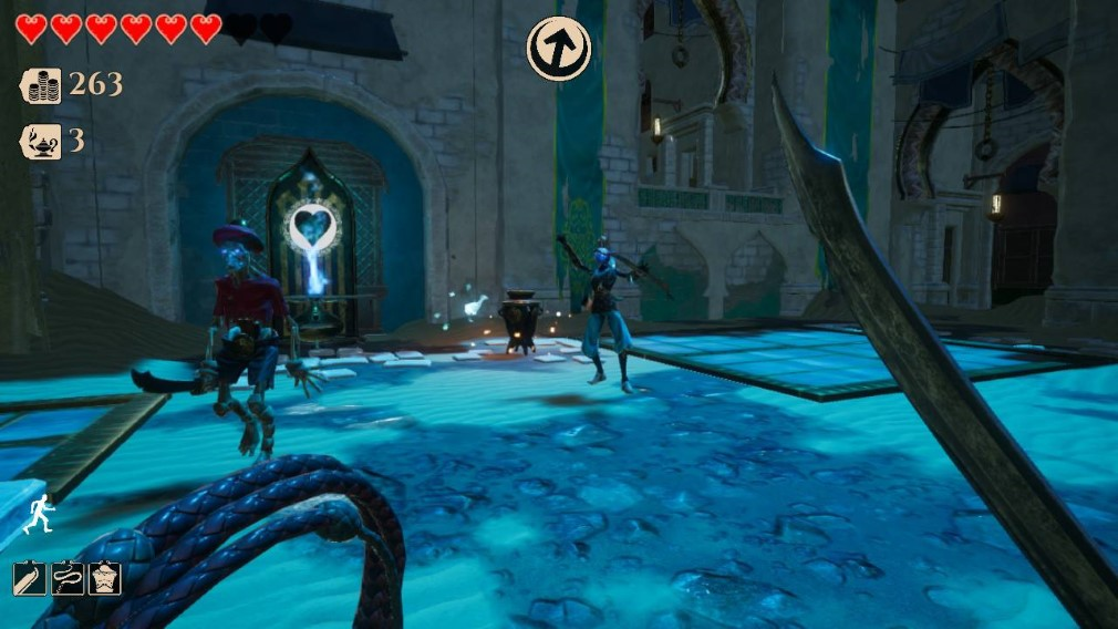 City of Brass Switch Screenshot Fighting Skeletons In The Night