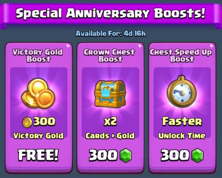 Clash Royale anniversary rewards