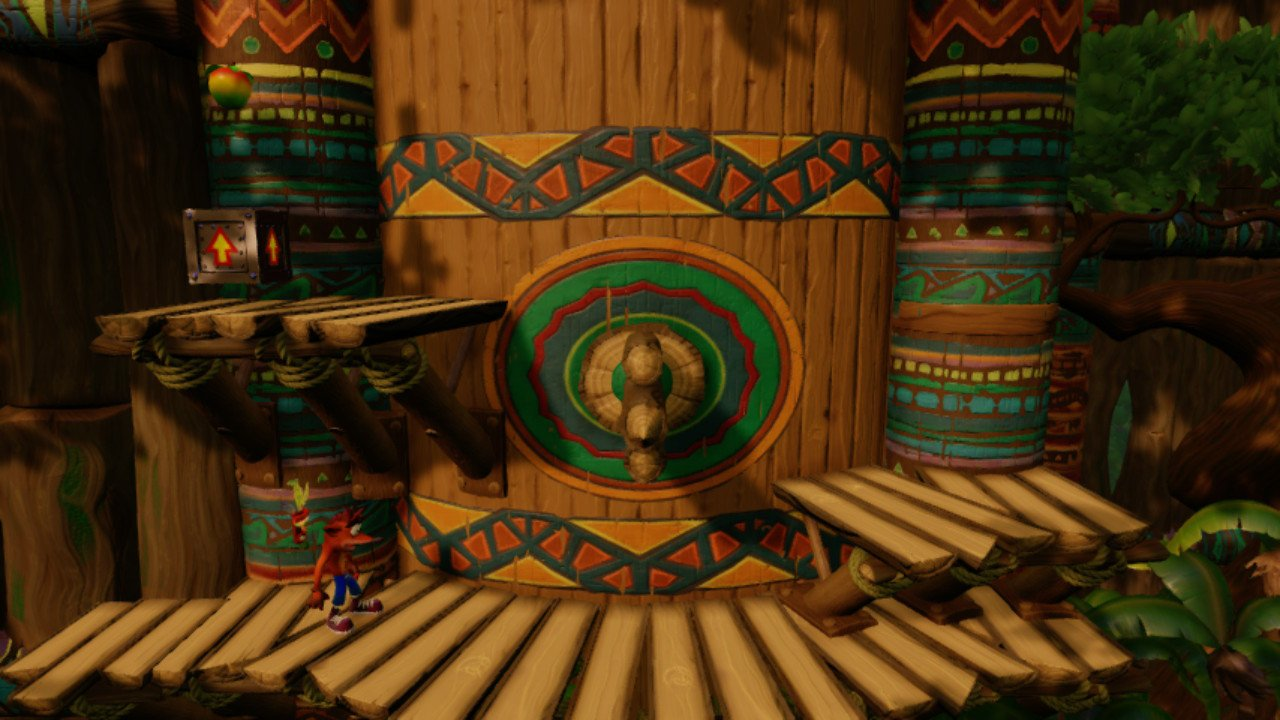 Crash Bandicoot N-Sane Trilogy Switch review screenshot - A side-on level