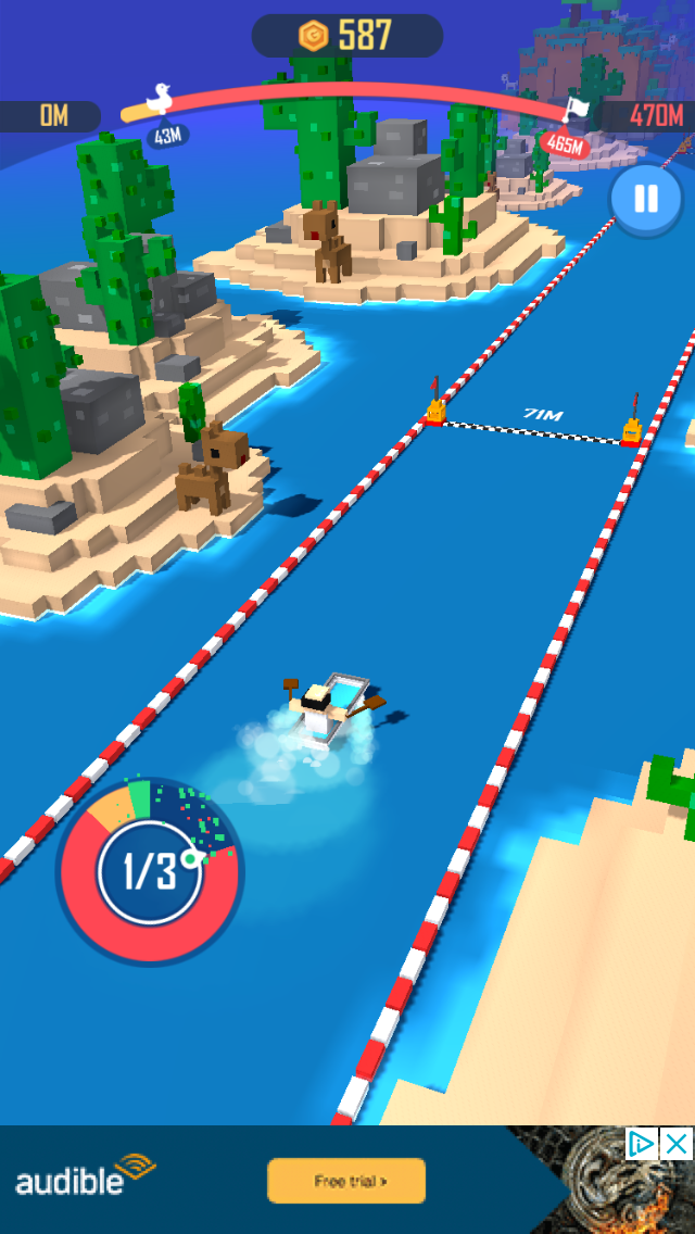 Crazy Boat iOS screenshot - Making the second tap