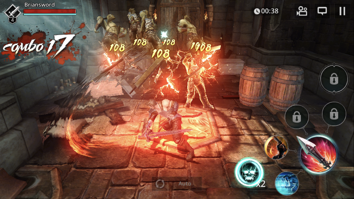 Darkness Rises iOS review screenshot - The end of a special attack