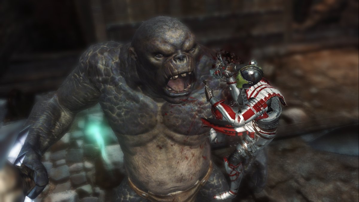 Darkness Rises iOS review screenshot - The killing blow on a troll