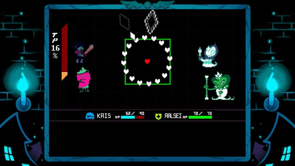 Deltarune Switch Screenshot Kris and Ralsei in a fight