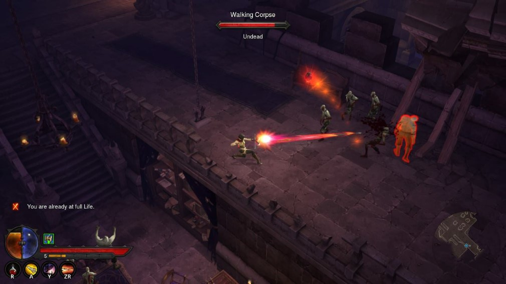 Diablo III Eternal Collection Switch Screenshot Battling Walking Corpses
