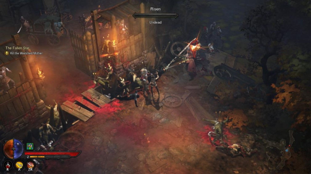 Diablo III Eternal Collection Switch Screenshot Fighting Risen Outside New Tristram