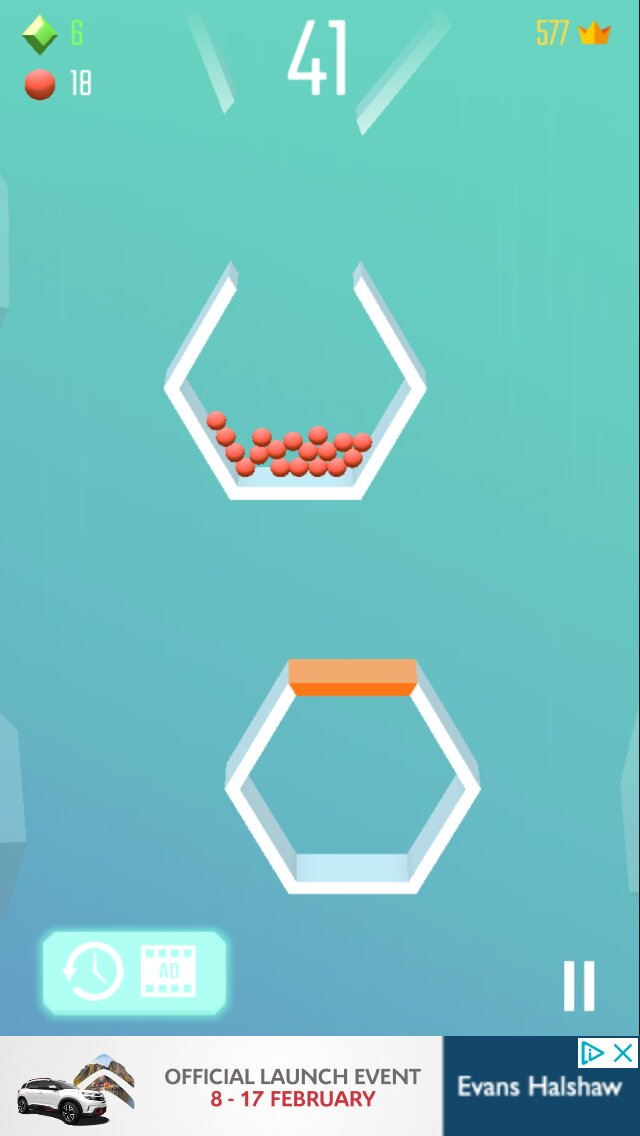 Drop the Balls iOS screenshot - Waiting for the bucket to turn