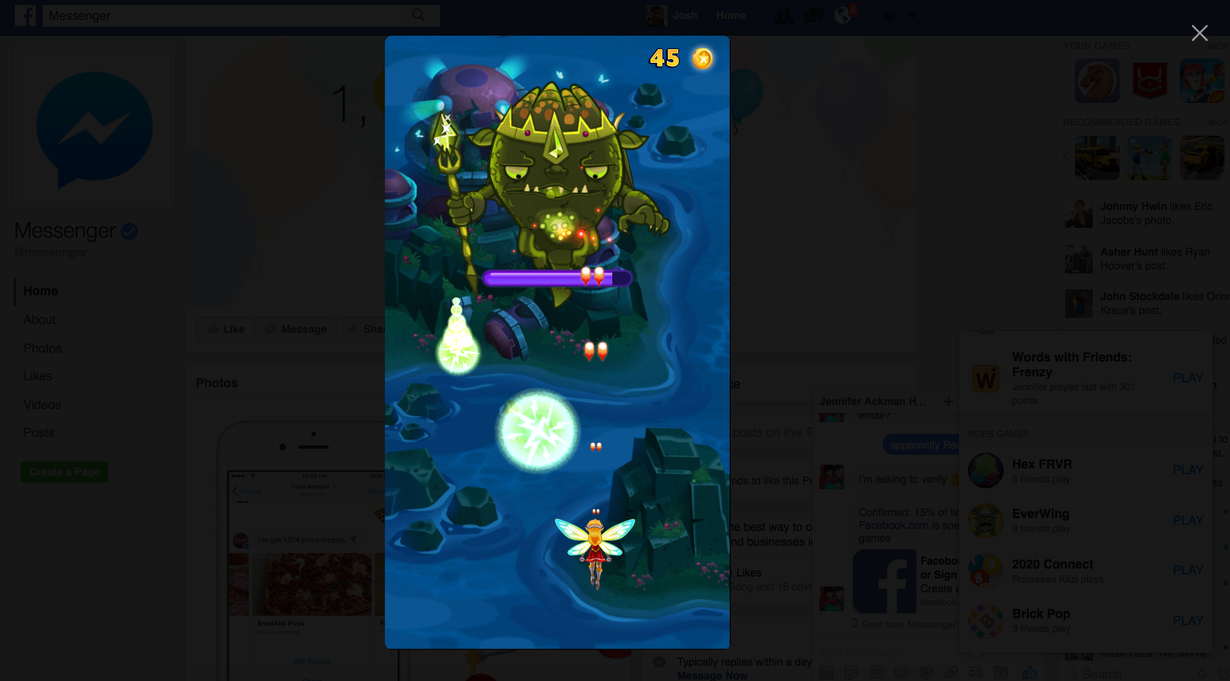 You can now challenge your friends to a game over Facebook