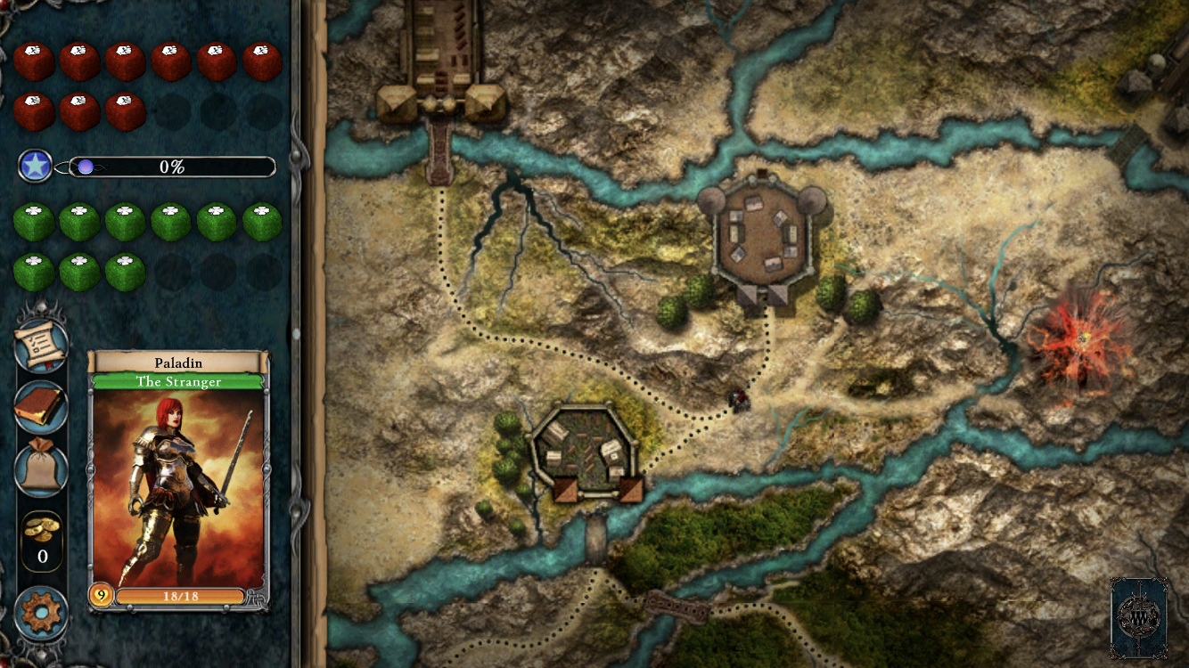 Fighting Fantasy Legends Portal iOS review screenshot - The start of a new game