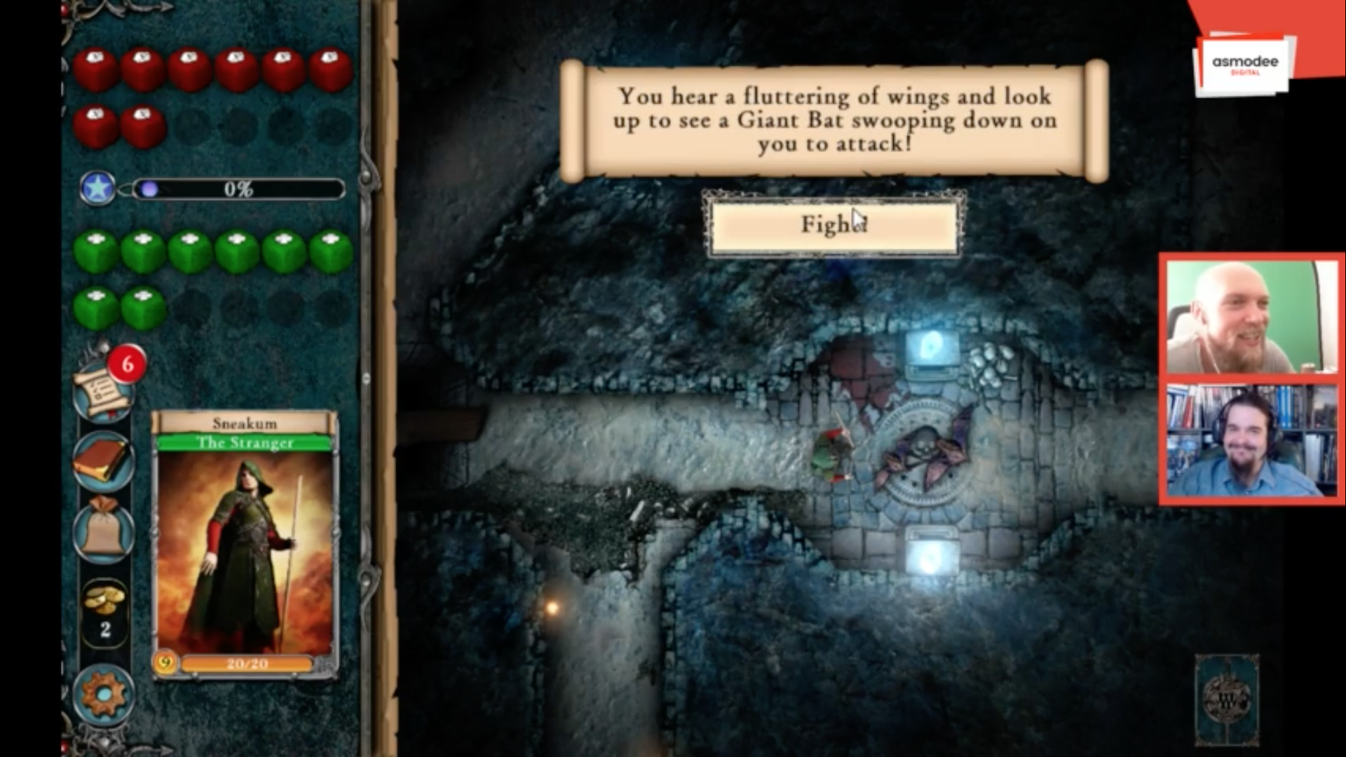 Fighting Fantasy Legends Portal Twitch stream screenshot