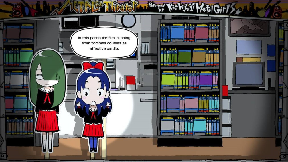 Gal Metal Switch screenshot - Zombies bookshop discussion