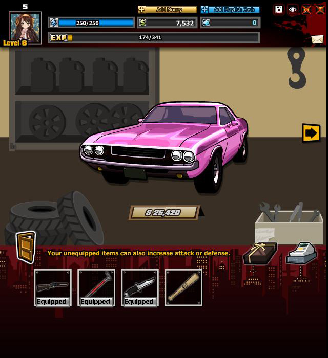 Gangster City garage
