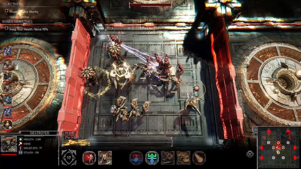 Golem Gates Switch screenshot - Scrapping with some monsters