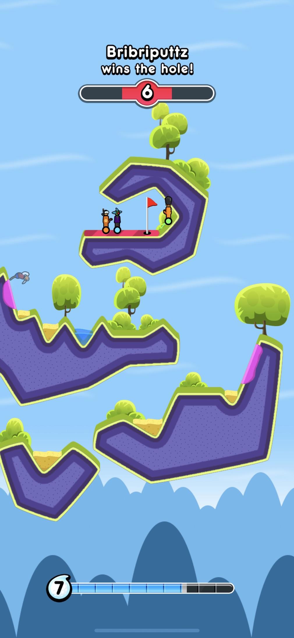 Golf Blitz iOS screenshot - The end of a game