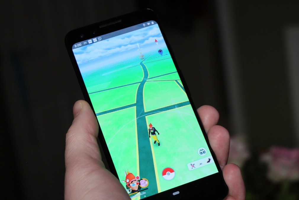 Google Pixel 3 review screenshot - Playing Pokemon Go