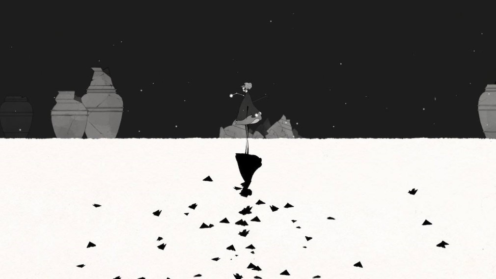 Gris Switch Screenshot Monochrome Mirror World