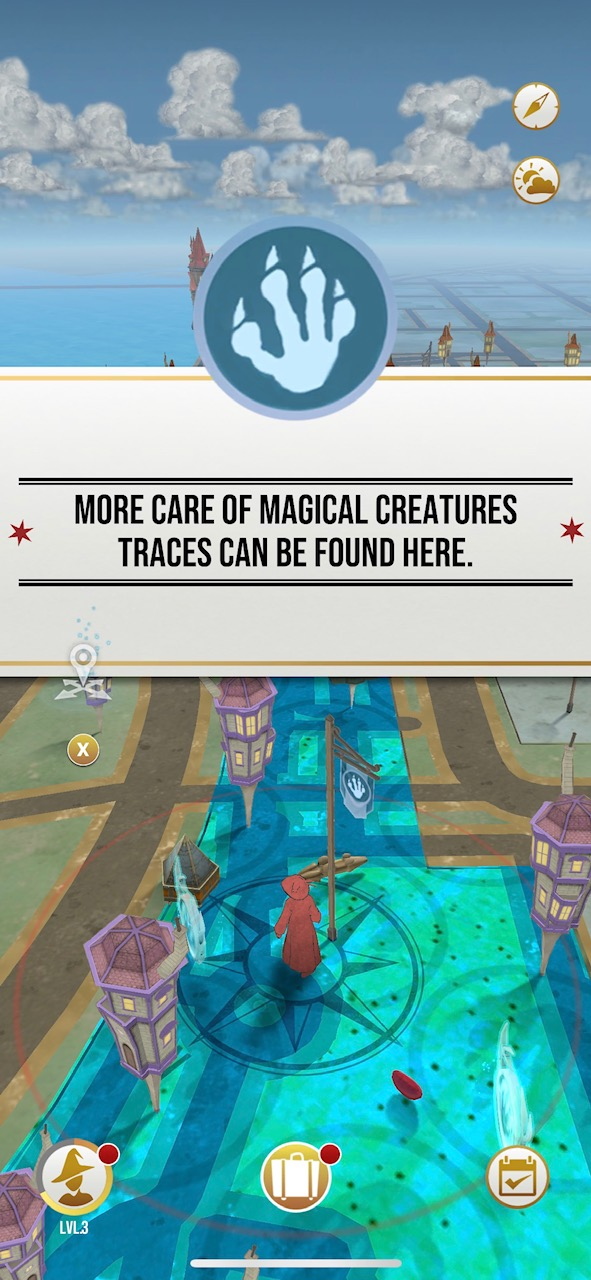 Harry Potter: Wizards Unite iOS Screenshot Map Screen