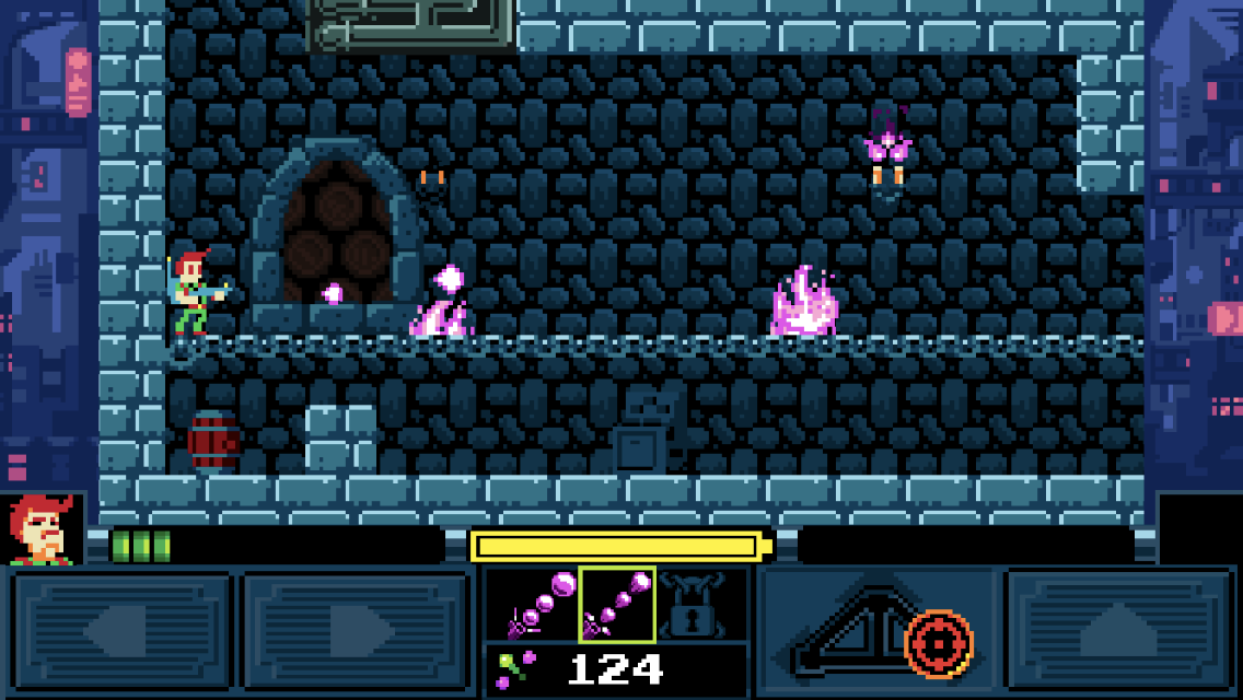 Help! I'm Haunted iOS review screenshot - Blasting some pink ghouls