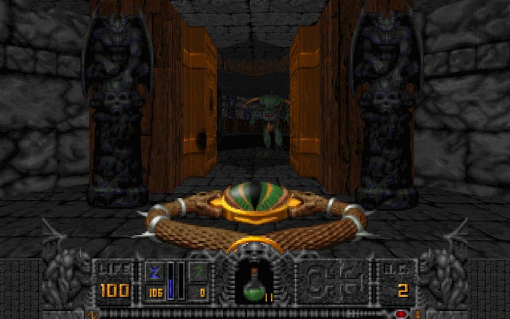 Hexen screenshot - Getting ready to shoot a monster