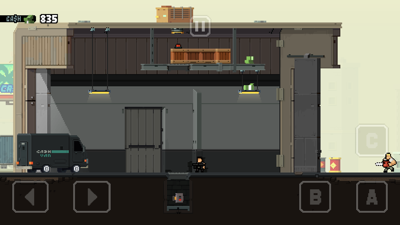 Hot Guns iOS review screenshot - Solving a mine-based puzzle