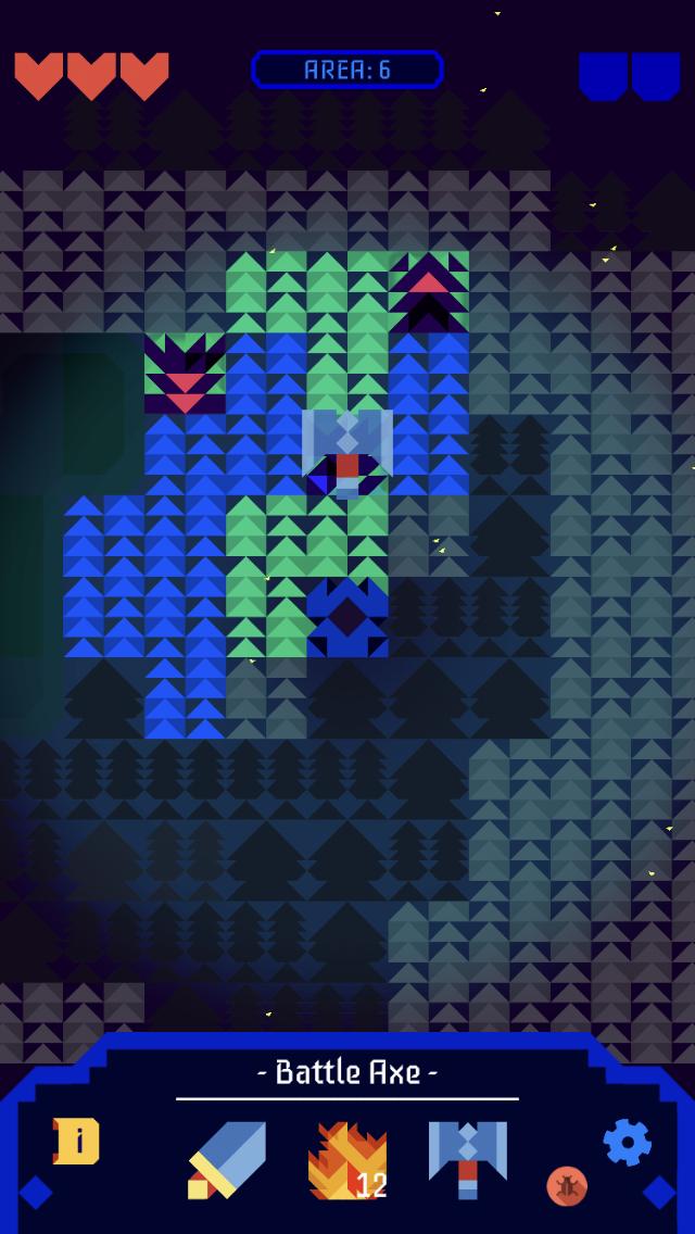 Into the Dark: Narakan iOS review screenshot - Enemies in endless mode