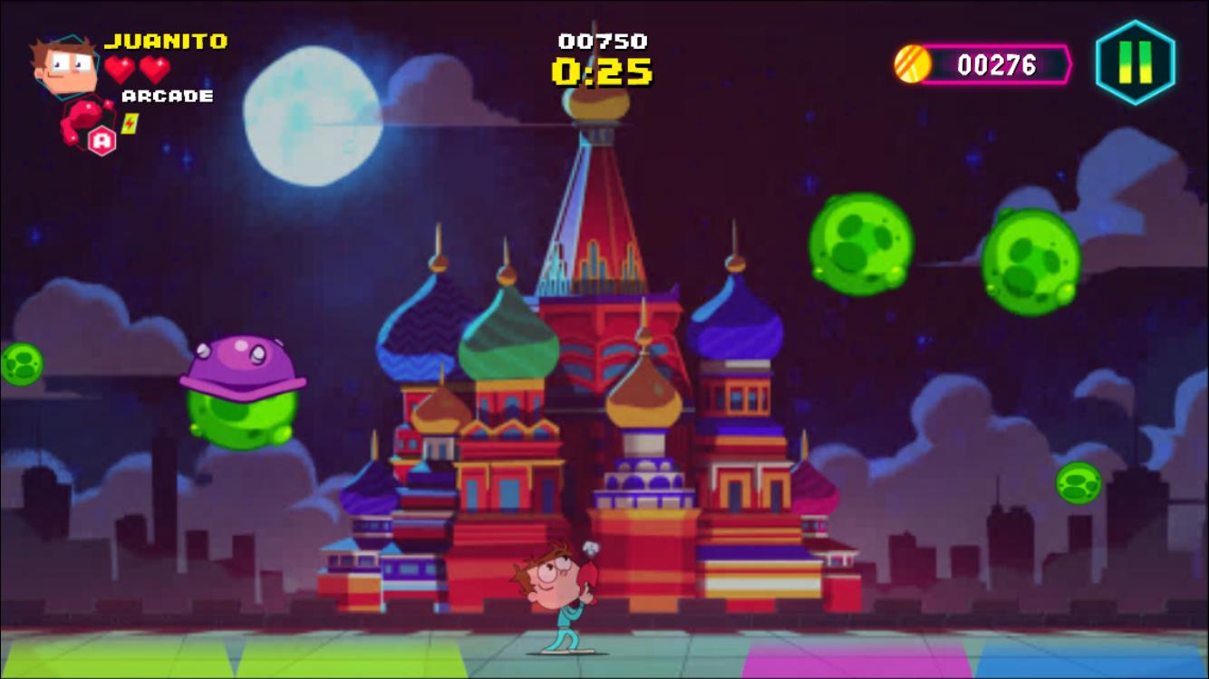 Juanito Arcade Mayhem iOS review screenshot - The Tetris level