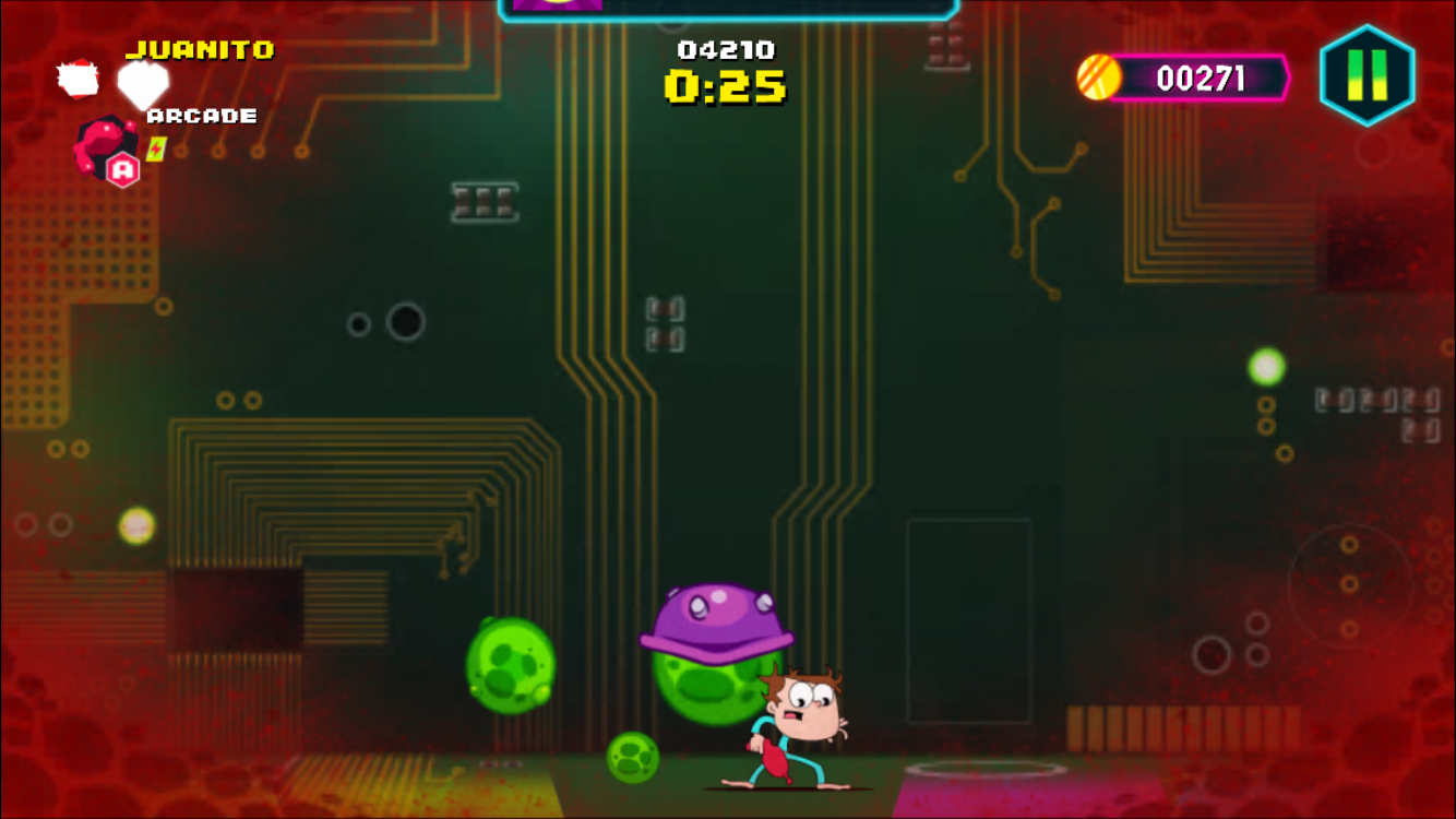 Juanito Arcade Mayhem iOS review screenshot - Taking some damage